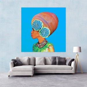 Jar Woman Canvas