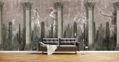 Ancient Statues Wallpaper Carta da Parati