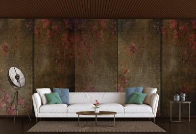 Copper Flowers Wallpaper
