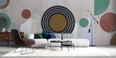 Circles Relief Wallpaper