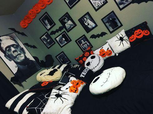 Halloween Bedroom Ideas Spooky  Wall Art Kids