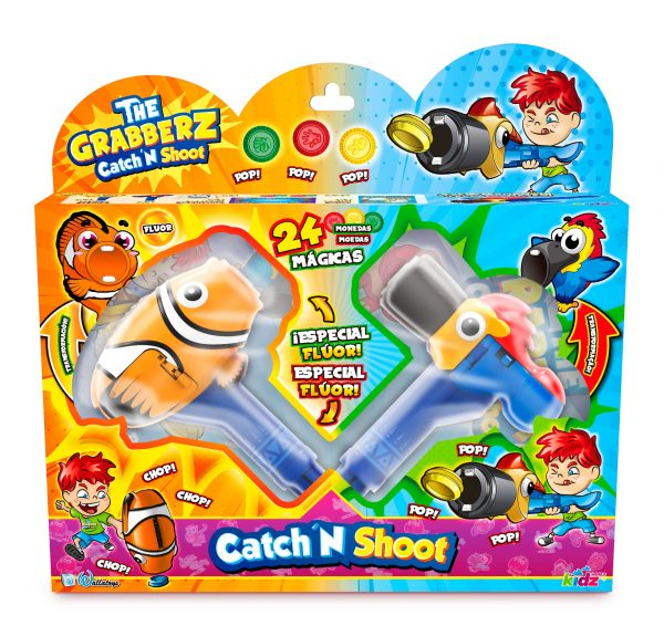 The Grabberz Catch N' Shoot pack doble, Por Wallatoys