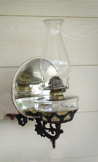 wall mount oil lamps