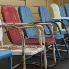 Antique Lawn Chairs Leather Waiting Room What Stories Have These Metal Heard  Work