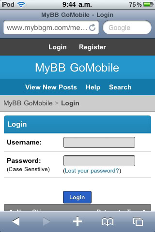 MyBB Mobile Forum - How to make your forum work best on