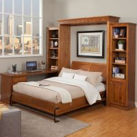 Library Wallbed | Bookcase style Murphy Bed | Wall Bed