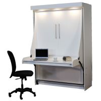 Euro Desk Murphy Bed | Wallbed with Hidden Bed | Hiddenbed ...