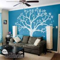 White tree wall decal for family room or ...