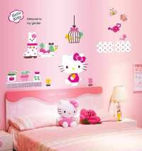 Hello Kitty Wall Sticker Decal | Girls Room | Wall Stickers