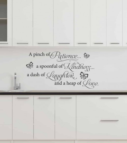 kitchen wall art compact table decals and stickers from 13 95 a pinch of patience decal