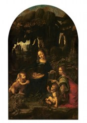Vergine delle rocce (prima versione, 1486 circa), particolare, Parigi, Louvre