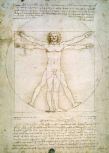 L'Uomo vitruviano, studio di proporzionalità di un corpo umano, Venezia, Accademia