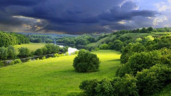 green landscape wallpaper 1366x768