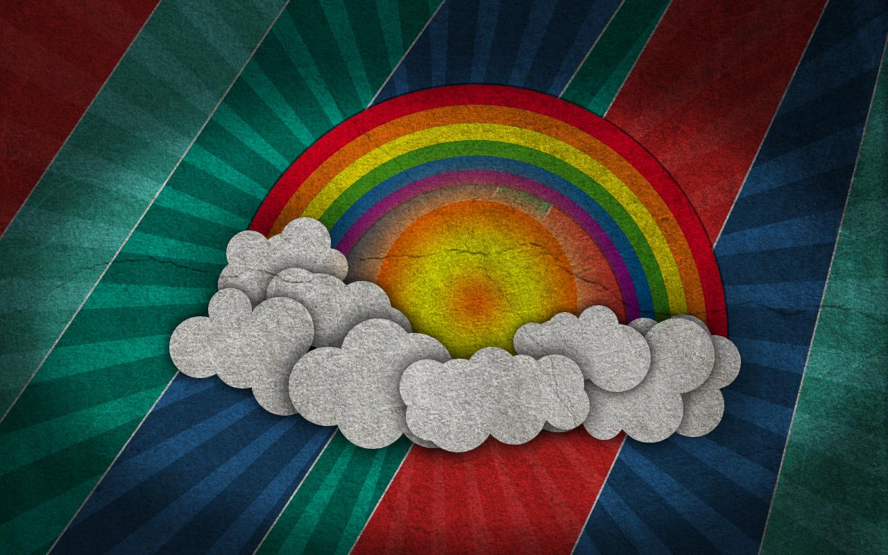 Retro Wallpaper Rainbow Hd #3485 Wallpaper  Walldiskpaper