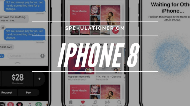 Allt vi vet/tror om nya iPhone 8