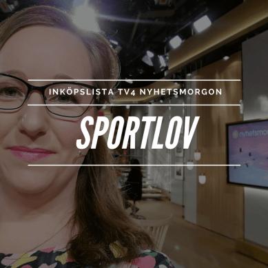 Inköpslista TV4 Nyhetsmorgon – Sportlov