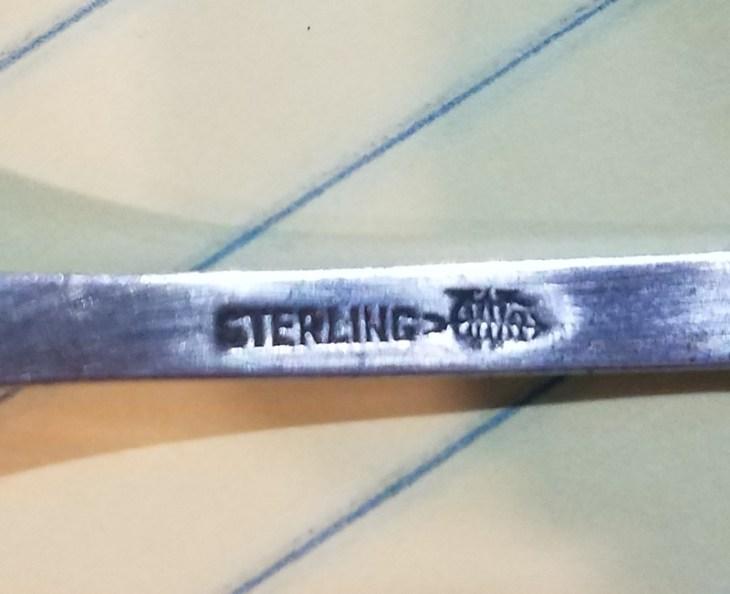 Webster Company Silver Coffee Sugar Spoon - CW and Arrow Mark
