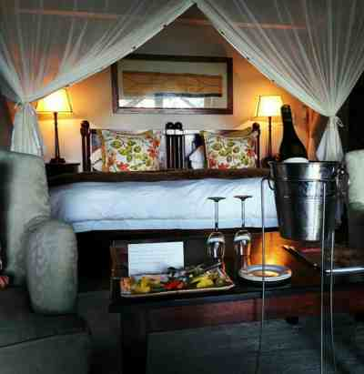We alerted the safari lodge management that our visit was part of our honeymoon. They upgraded us to a special suite and served us a private dinner our first night as a honeymoon treat!
