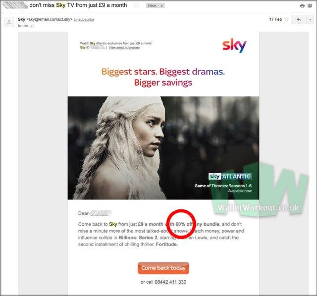 Sky Discount : 60% off Sky TV