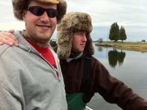 Chris and Matt Speicher ready to catch walleyes.