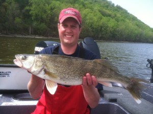 Matt Speicher with another Red Wing keeper walleye.