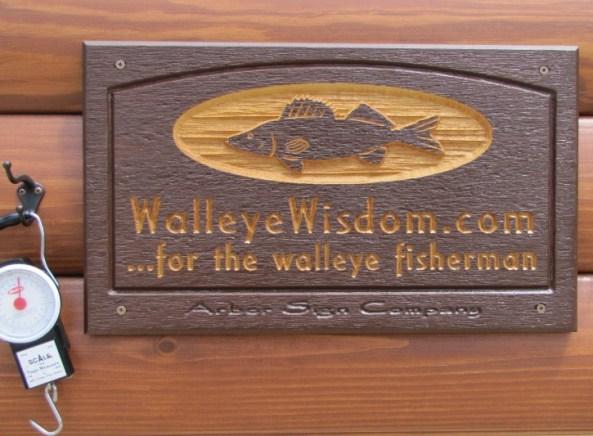 Arbor Sign designs a custom sign for Walleye Wisdom.