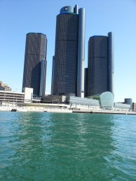GM building at about 25 feet of water.