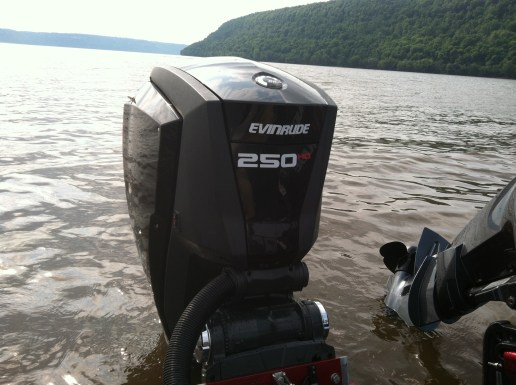 The new Evinrude G2 outboard.