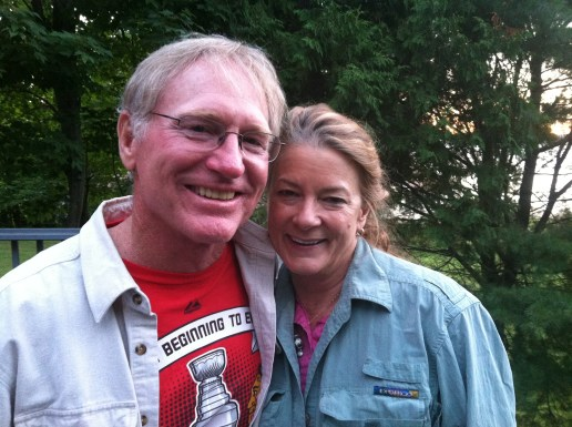 Stephanie and Marty Barski at their lake home. Marty helped Chris Burns prefish the Escanaba NWT event!