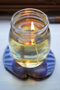 DIY Olive Oil Candles