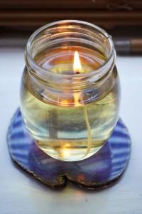 DIY Olive Oil Candles