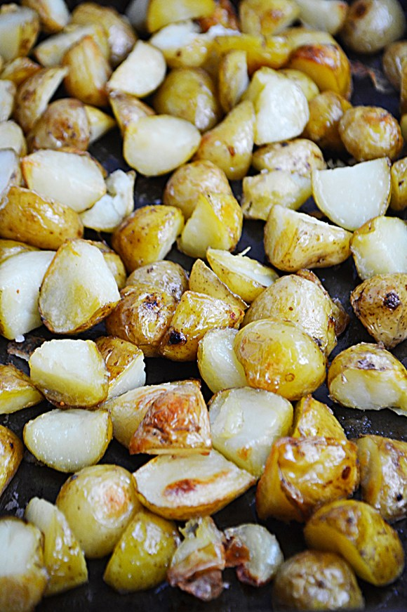 Crispy Garlic & Sea Salt Potatoes