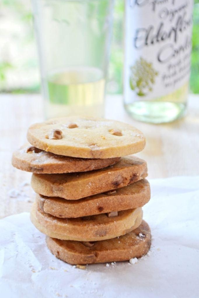 Elderflower & Lemon Shortbread with White Chocolate Chips