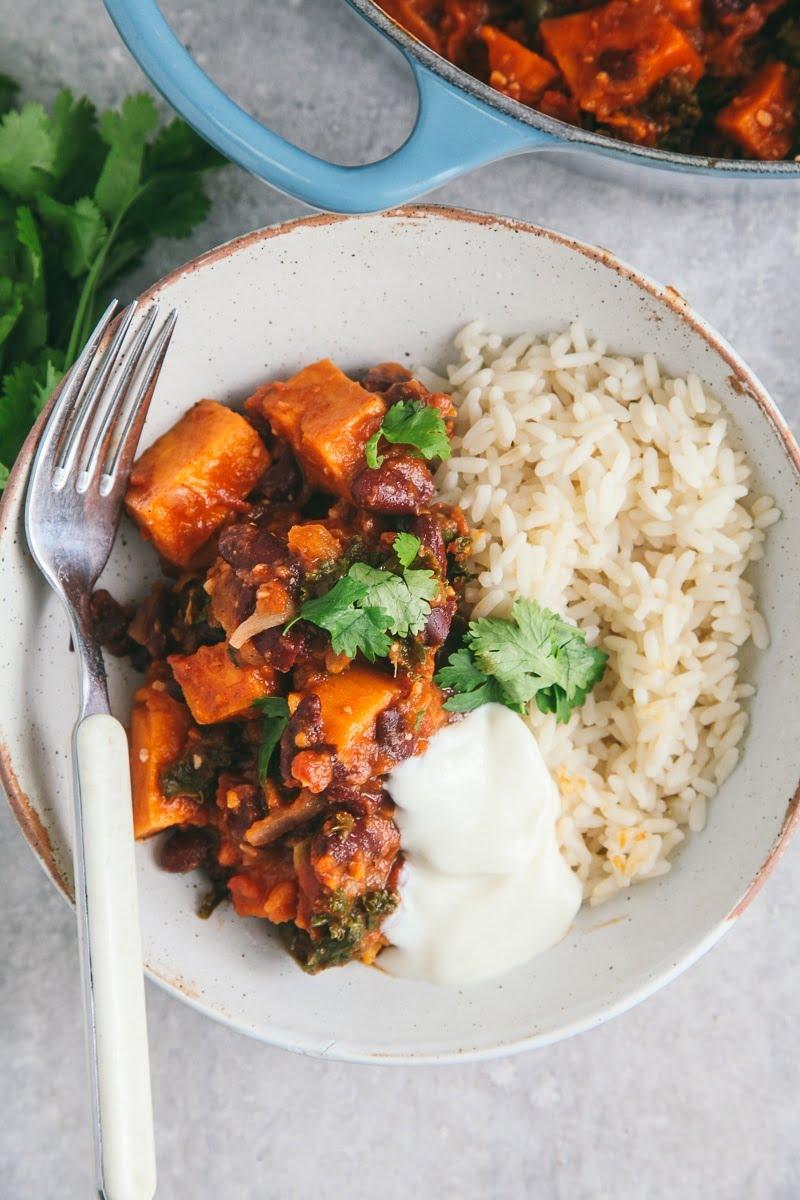 Sweet Potato & Kale Chili #vegan #glutenfree