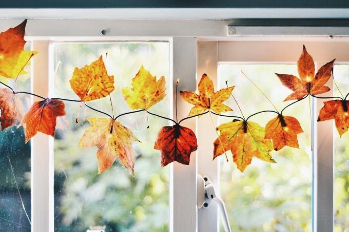 DIY Autumn Leaf Fairy Lights