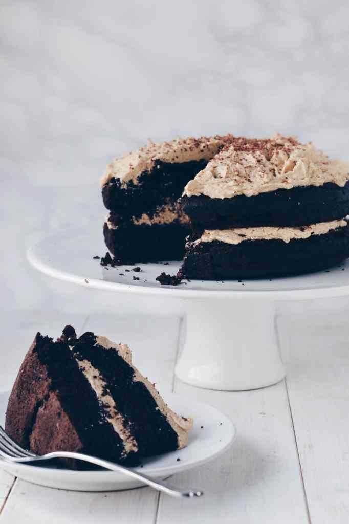 "Chocolate Guinness Cake with ""Baileys"" Buttercream Frositng"