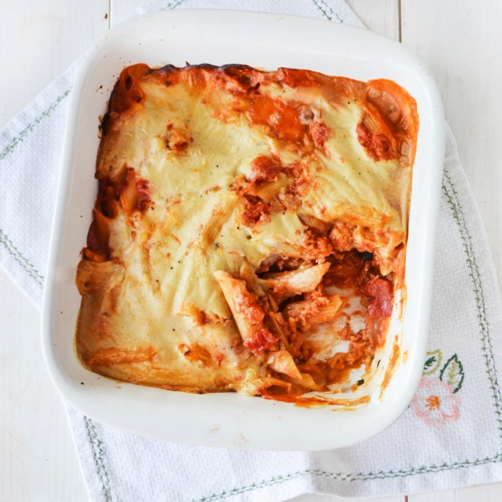 Bolognese Pasta Bake - #Vegan with #Glutenfree option