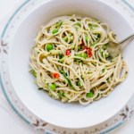 One-Pot Courgette, Pea & Lemon Pasta