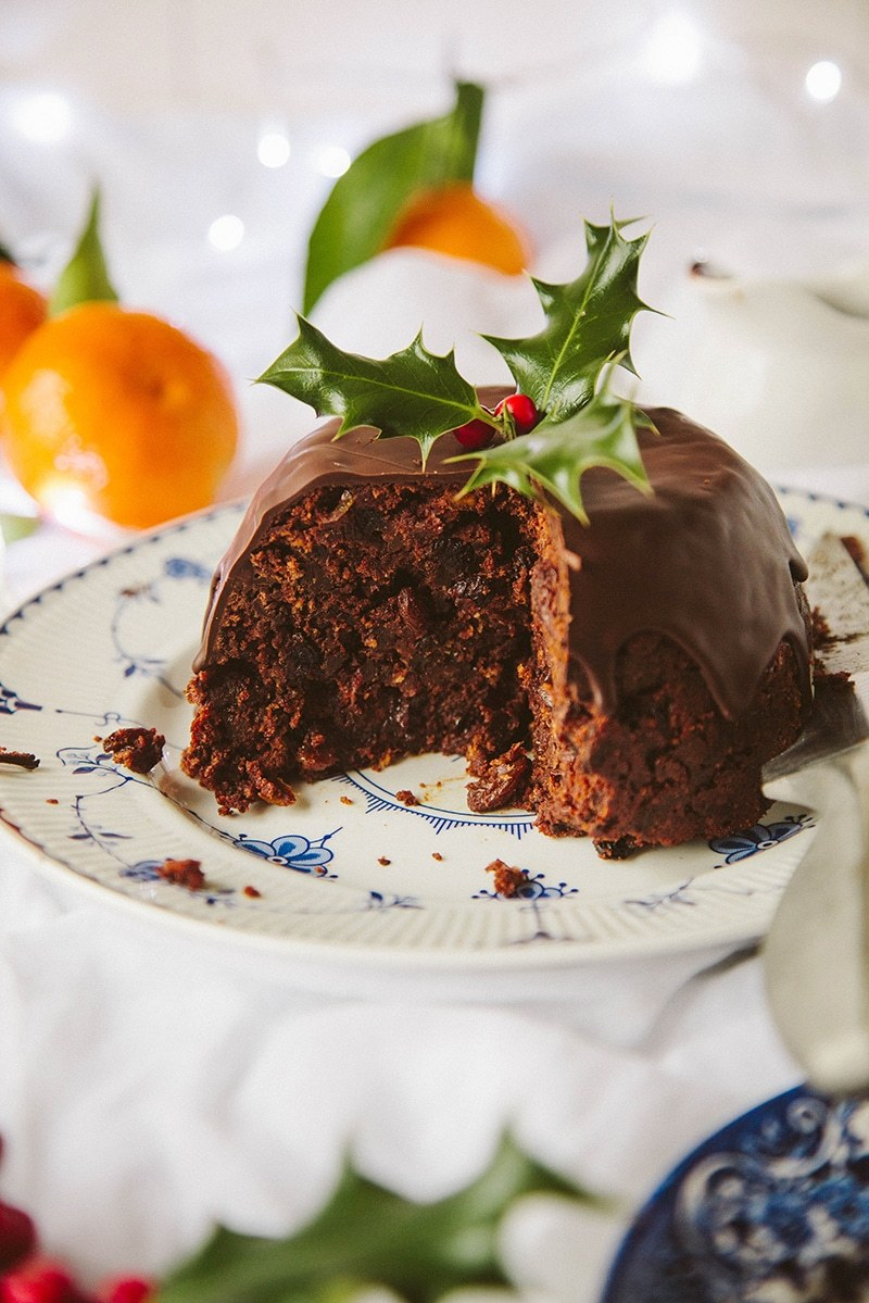 Chocolate Orange Christmas Pudding #vegan #dairyfree #christmas