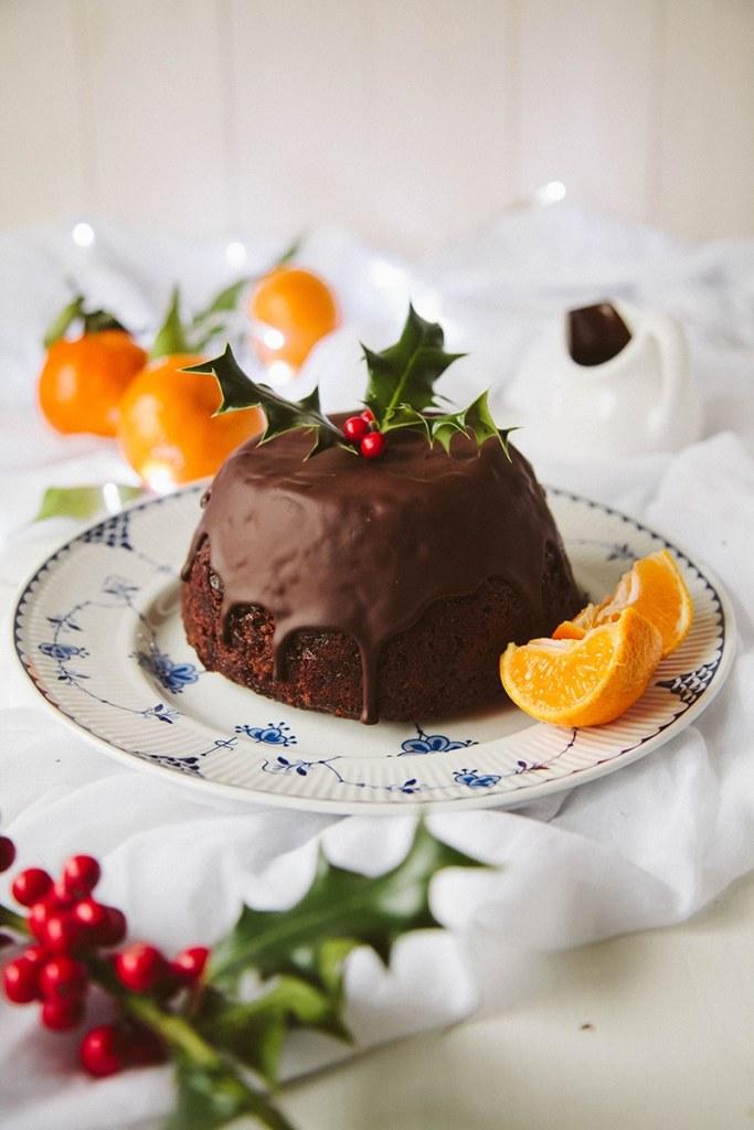 Chocolate Orange Christmas Pudding #vegan #dairyfree #christmas