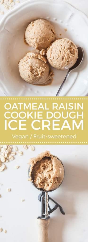 Vegan Oat Raisin Cookie Dough Ice Cream