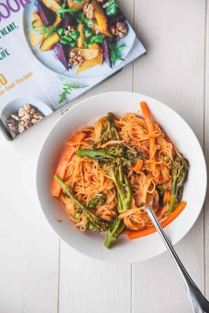 One-Pan Pasta Primavera from 'Plant-Based Cookbook'
