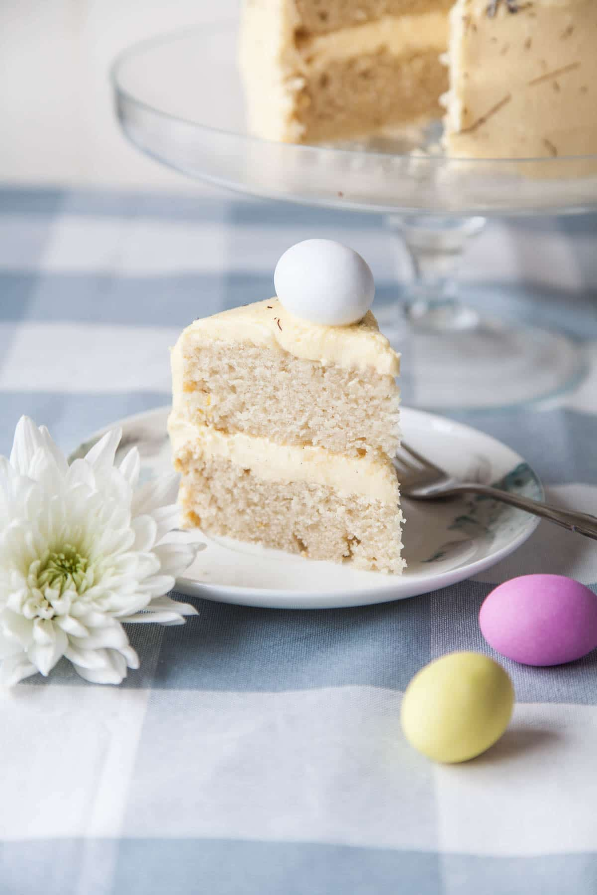 Vegan Easter Lemon Sponge Cake Wallflower Kitchen