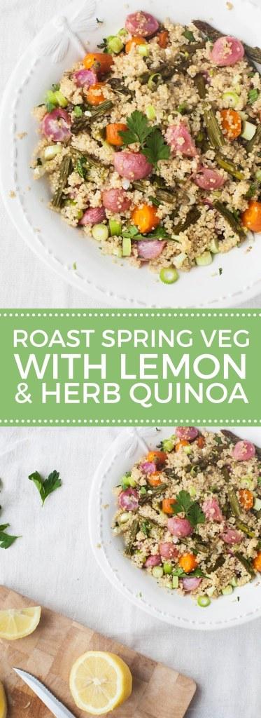 Roast Spring Vegetables with Lemon & Herb Quinoa