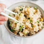 """Vegan """"Egg"""" Fried Rice"""