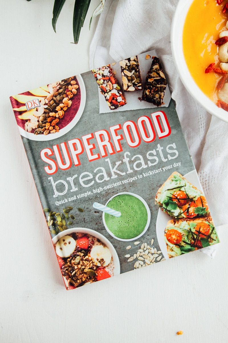Superfood Tropical Smoothie Bowl (Vegan, Gluten-free, Paleo, Raw)