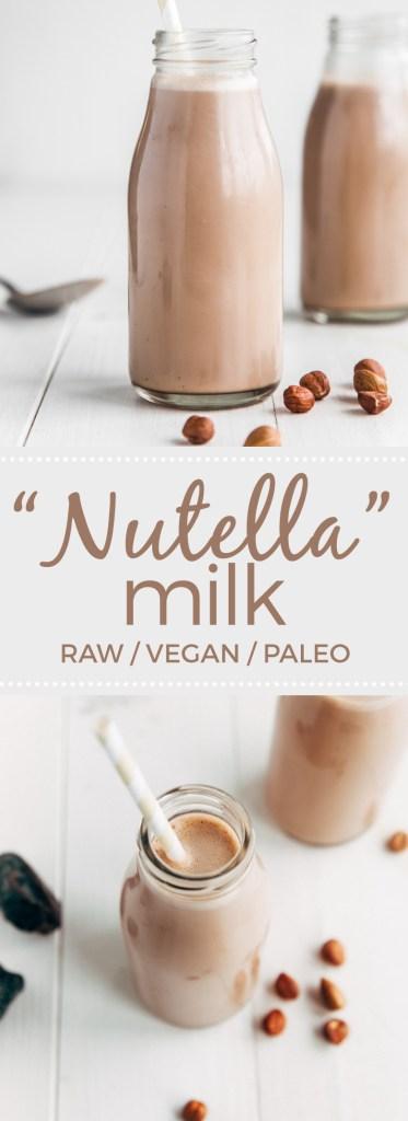 "#Raw Chocolate Hazelnut Milk - Date sweetened! #glutenfree #vegan #paleo"""