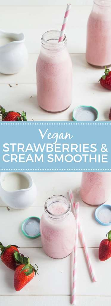 Strawberries & Cream Smoothie (Vegan)