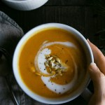 Spicy Butternut Squash Soup (Vegan + GF)