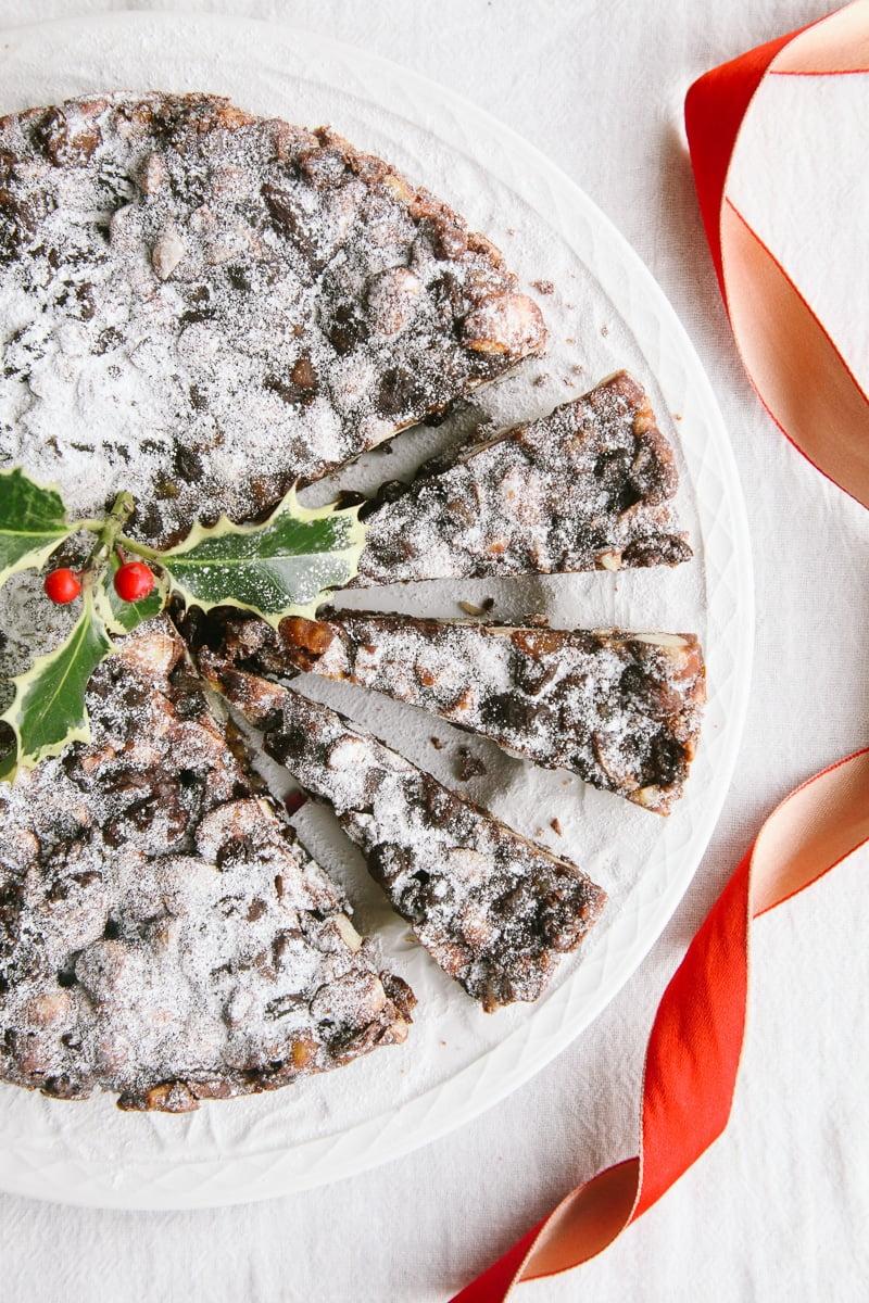Vegan Panforte - Italian Chocolate Christmas Cake